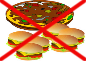 Completely Discard & Eliminate Consumption of Soft Drinks-Pizza-Burger